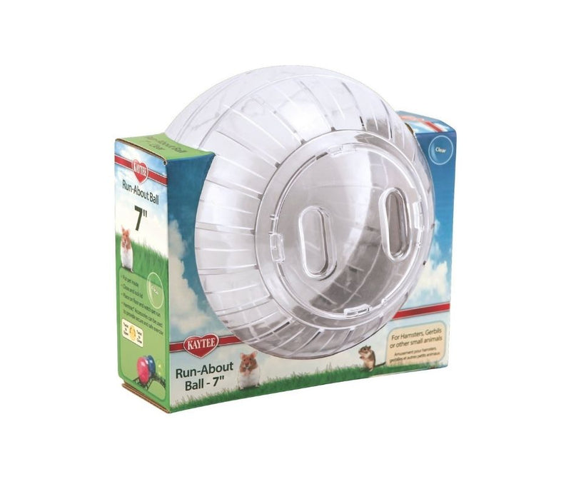 Kaytee - Run-About Exercise Ball, Clear.