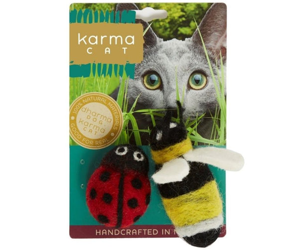Karma Cat - Ladybug & Bee, Pack of 2 Toys.