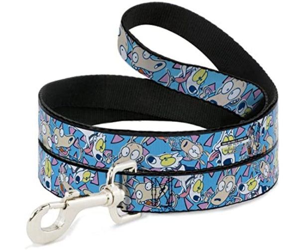 Rocko & Spunky Scattered Expressions Dog Leash by Buckle-Down