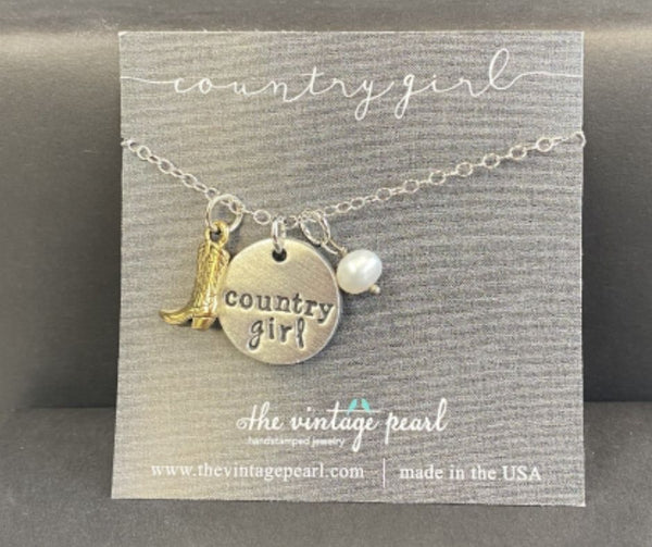 Country Girl Necklace by Vintage Pearl