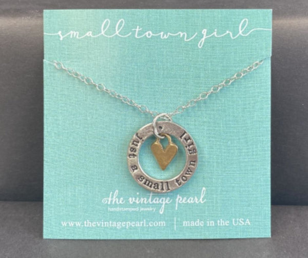 Just a Small Town Girl Necklace by Vintage Pearl