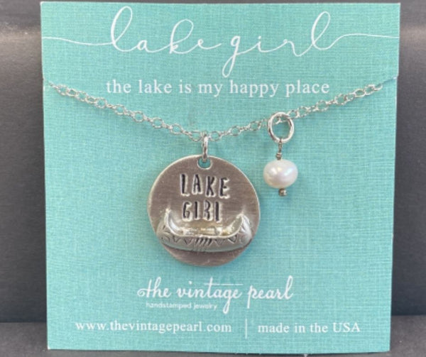 Lake Girl Necklace by Vintage Pearl