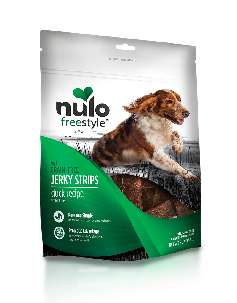 Nulo Jerky Strips Duck Recipe with Plums Grain Free Dog Treat 5 oz. - Southern Agriculture