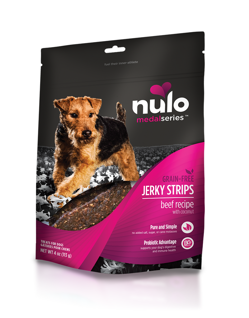 Nulo Freestyle Jerky Strips Beef with Coconut Grain Free Dog Treat 5 oz. - Southern Agriculture