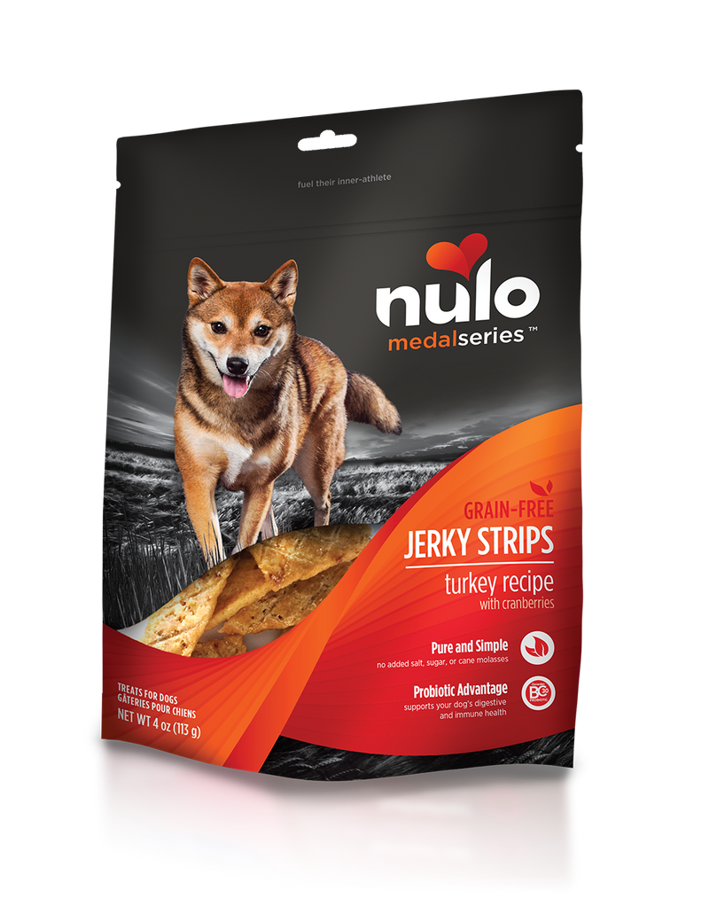 Nulo Jerky Strips Turkey with Cranberries Grain Free Dog Treat 5 oz. - Southern Agriculture