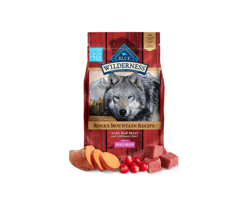 Blue Buffalo Wilderness Rocky Mountain - Small Breed, Adult Dog. Red Meat Recipe - Southern Agriculture