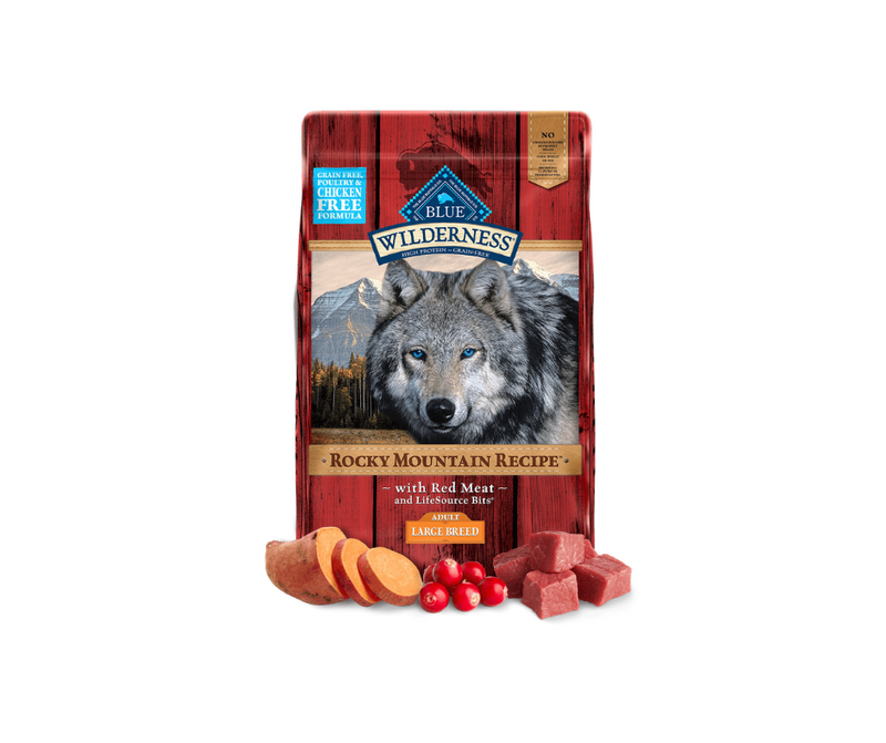 Blue Buffalo Wilderness Rocky Mountain - Large Breed, Adult Dog. Red Meat Recipe - Southern Agriculture
