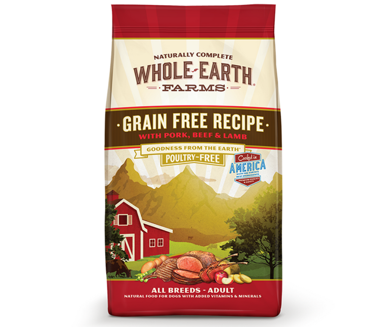 Whole Earth Farms Grain Free - All Breeds, Adult Dog. Pork, Beef, and Lamb Recipe - Southern Agriculture