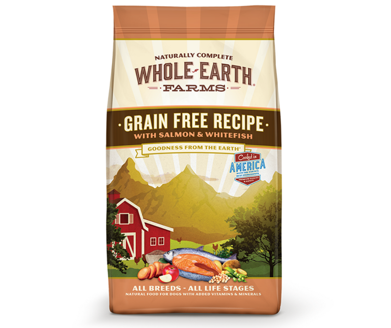 Whole Earth Farms Grain Free - All Breeds, Adult Dog. Salmon and Whitefish Recipe - Southern Agriculture