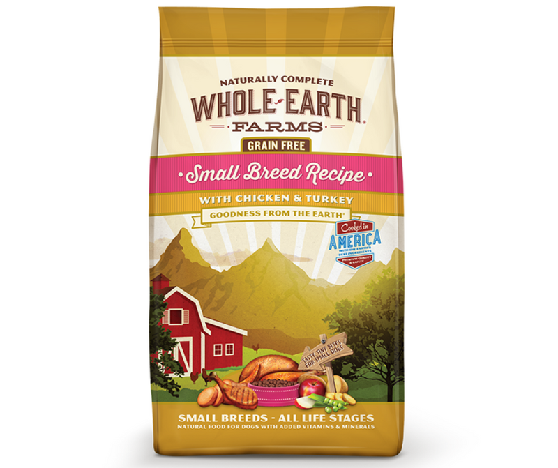 Whole Earth Farms Grain Free - Small Breed, Adult Dog.  Chicken and Turkey Recipe - Southern Agriculture