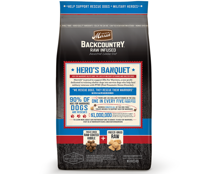 Merrick Backcountry, Raw Infused - All Breeds, Adult Dog. Hero's Banquet Recipe - Southern Agriculture