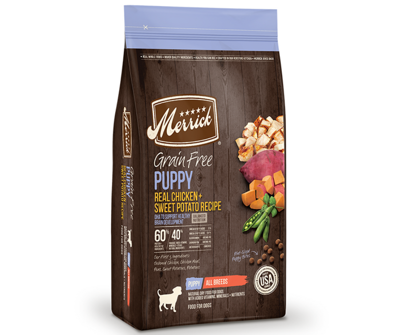 Merrick Grain Free - All Breeds, Puppy.  Real Chicken and Sweet Potato Recipe - Southern Agriculture
