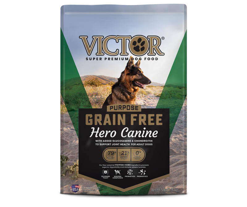 Victor - All Breeds, Adult Dog. Grain Free Hero Canine Recipe - Southern Agriculture