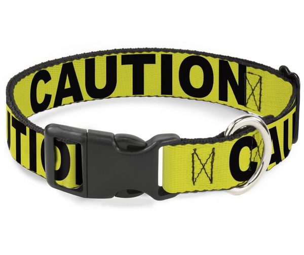 CAUTION Yellow and Black Dog Collar - Southern Agriculture