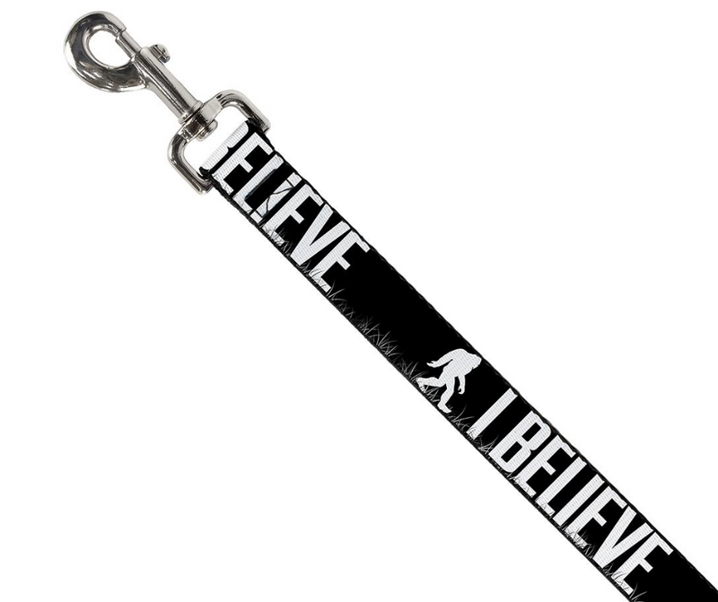 Dog Leash - Bigfoot Silhouette I BELIEVE 1 Inch Wide by 6 Foot Long - Southern Agriculture