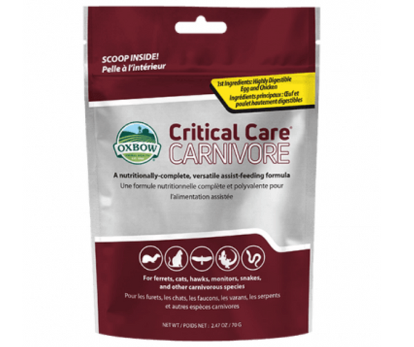 Oxbow Critical Care - Carnivore 70 gm - Southern Agriculture