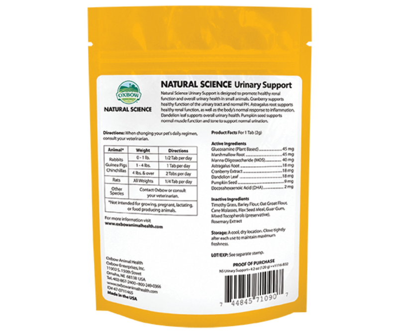 Oxbow Natural Science Urinary Support - Southern Agriculture