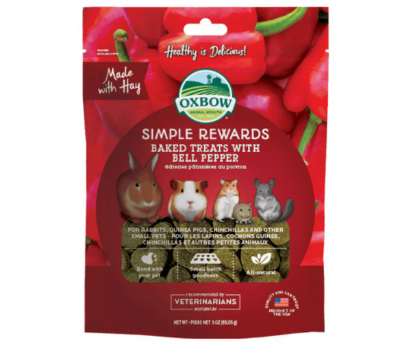 Oxbow Simple Rewards Baked Treat Bell Pepper for Small Animals 3 oz. - Southern Agriculture