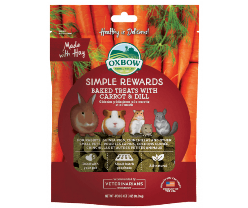 Oxbow Simple Rewards Baked Treat Carrot & Dill For Small Animals 3 oz. - Southern Agriculture
