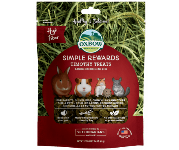 Oxbow Simple Rewards Timothy Treats For Small Animals 1.4 oz. - Southern Agriculture