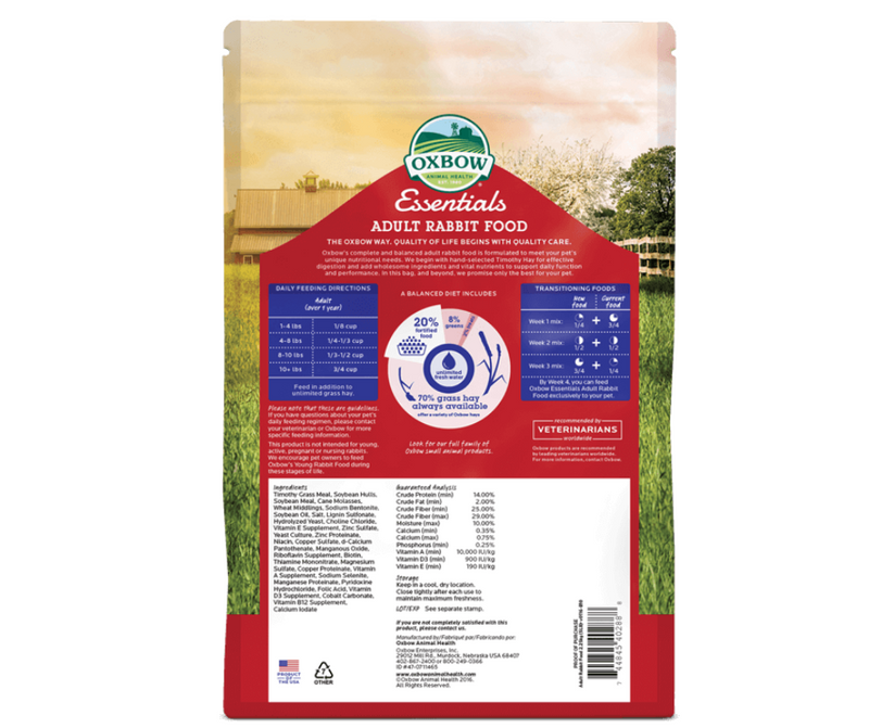 Oxbow Essentials - Adult Rabbit Food - Southern Agriculture
