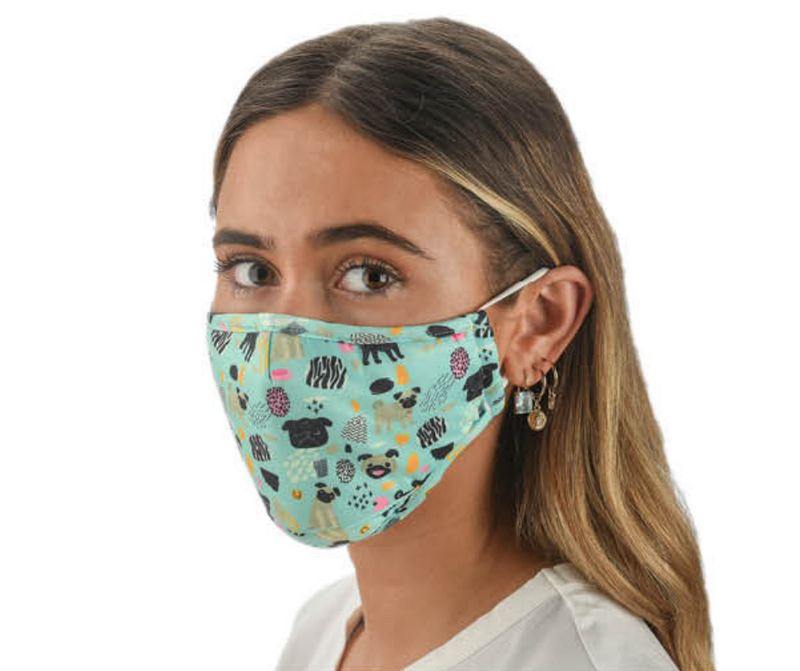 Snoozies Fashion Face Coverings (Mask) Dog Print with Filter - Southern Agriculture