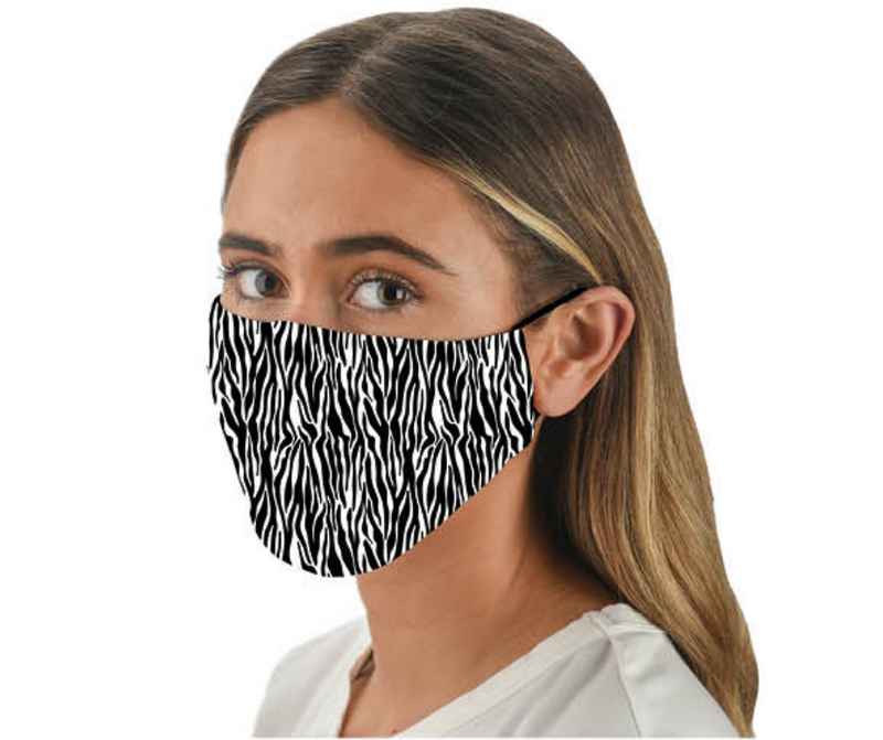 Snoozies Fashion Face Coverings (Mask) Zebra Print with Filter - Southern Agriculture