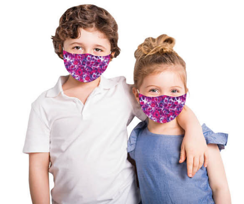 Snoozies Kids Face Coverings (Mask) Tie Dye Design - Southern Agriculture