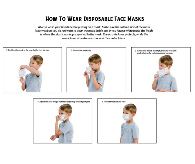 Kid's Disposable 3 Ply Mask SuperHero Design 7 Pack - Southern Agriculture