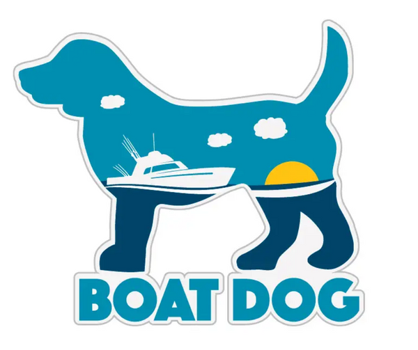 Decal Boat Dog