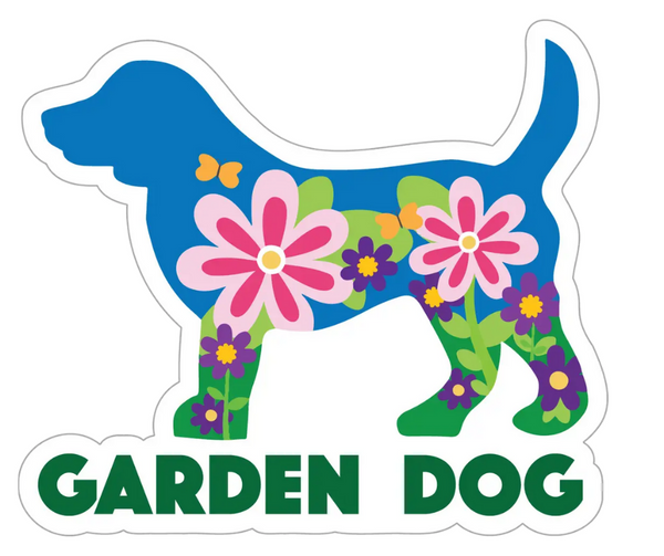 Decal Garden Dog