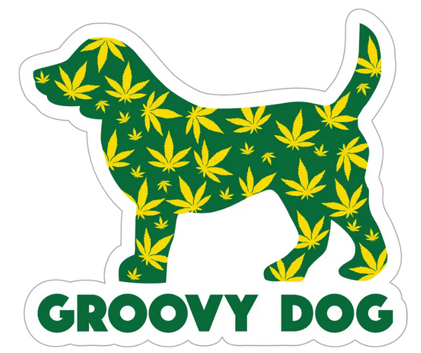 Decal Groovy Dog