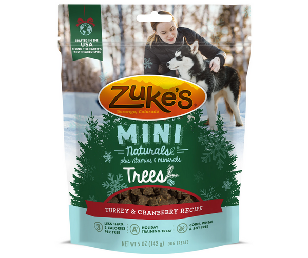Zuke's Mini Naturals Trees Turkey & Cranberry Dog Treat