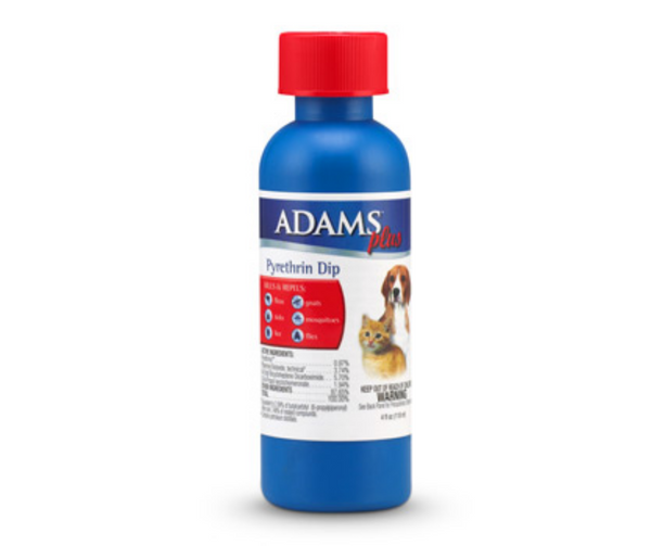 Adams Plus Pyrethrin Flea and Tick Dip by Farnam 4 oz. - Southern Agriculture