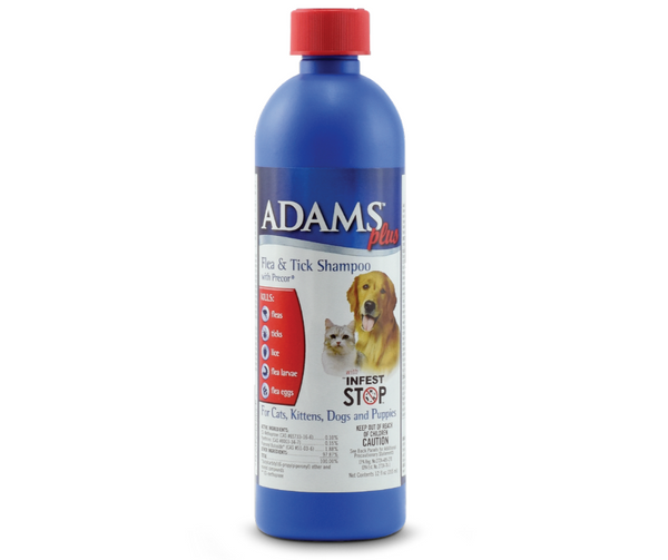 Adams Plus Flea & Tick Shampoo with Precor for Dogs & Cats 12 oz. - Southern Agriculture