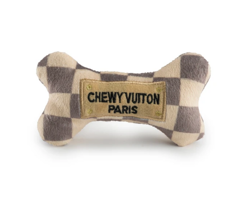 Chewy Vuiton Bone Checker Plush Dog Toy by Haute Diggity Dog - Southern Agriculture