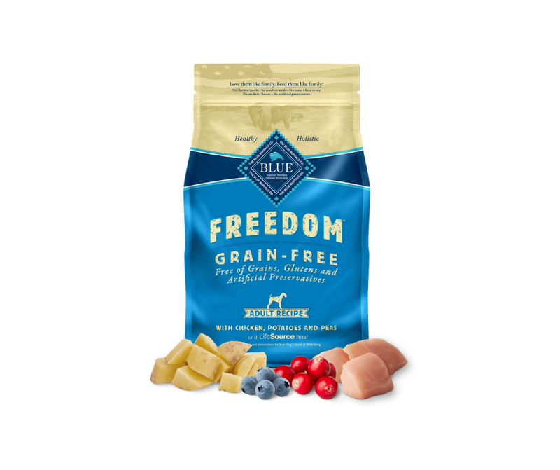 Blue Buffalo Freedom - Adult Dog. Grain-Free Chicken, Potato, and Pea Recipe - Southern Agriculture