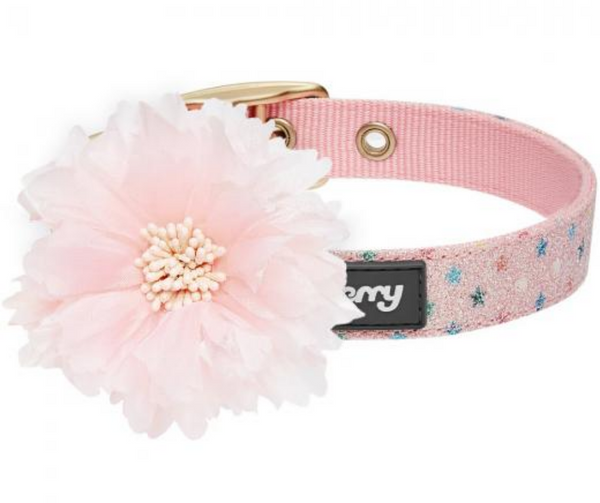 Most Coveted Holo Glitter Dog Collar with Flower Pink Multi Stars - Southern Agriculture