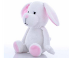 Cuddly Plush White Bunny Dog Toy - Southern Agriculture