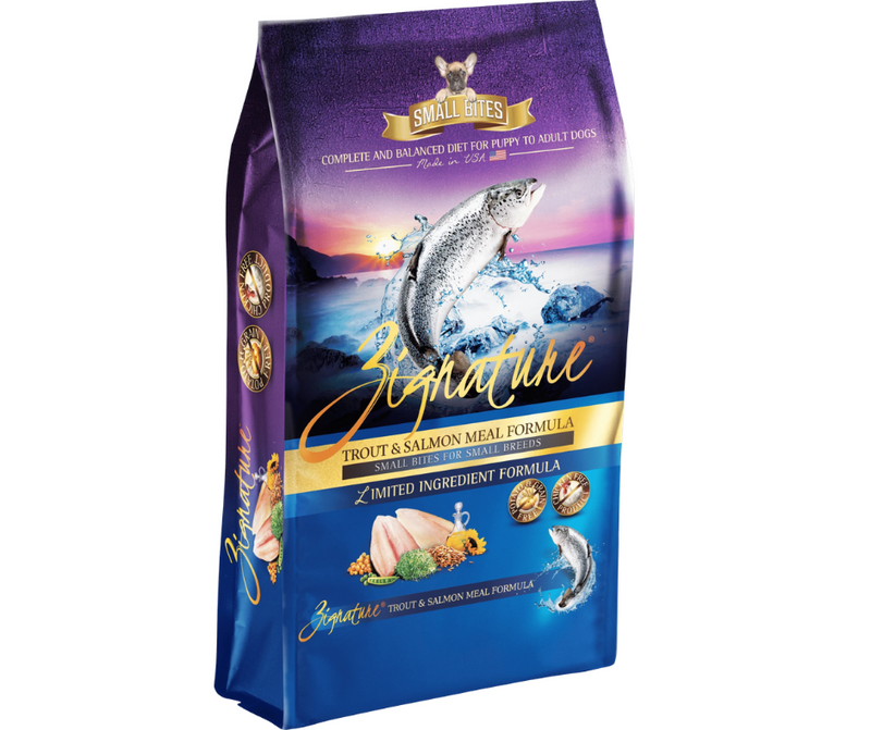Zignature Trout & Salmon Meal Small Bites Dry Dog Food 4 lb. - Southern Agriculture