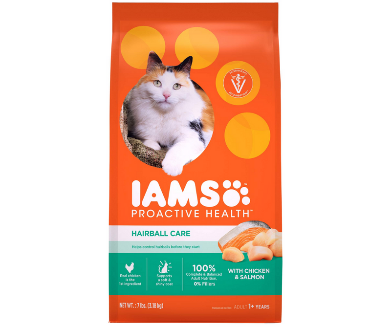 Iams Proactive Health - All Breeds, Adult Cat. Hairball Care, Chicken and Salmon Recipe. - Southern Agriculture
