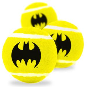 Dog Toy Squeaky Tennis Ball Batman Icon Yellow Black - Southern Agriculture