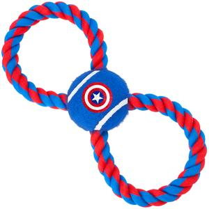 Figure 8 Tug with Captain America Dog Toy - Southern Agriculture