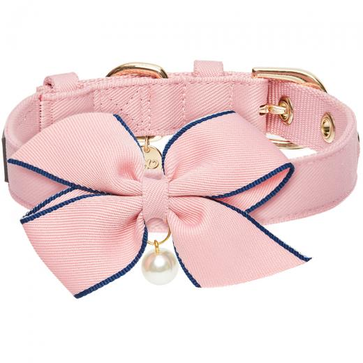 The Most Coveted Pink Dog Collar with Bowtie & Pearl by Blueberry Pet - Southern Agriculture