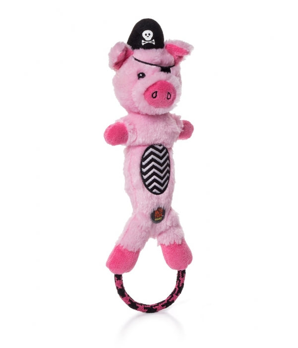 Pig Pirate Lil Dudes - Rope Loop On Feet - Dog Toy - Southern Agriculture