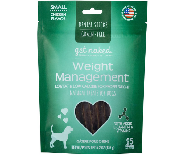 Get Naked Weight Management Dental Chew Sticks