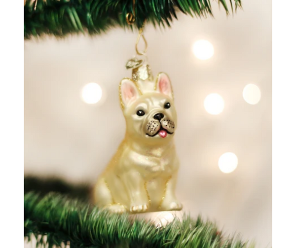 Old World Christmas French Bulldog Ornament
