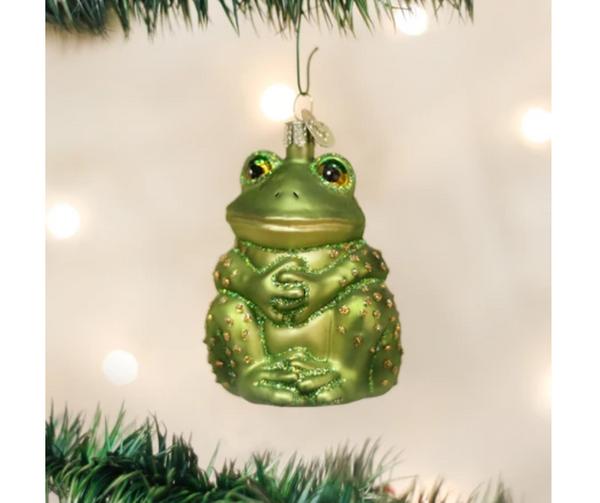 Old World Christmas Sitting Frog Ornament