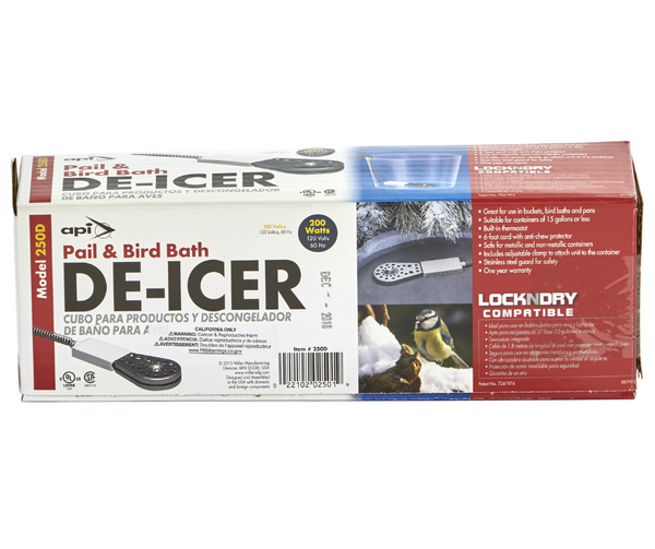 Pail and Bird Bath De-Icer 200 Watt By API Model 250D