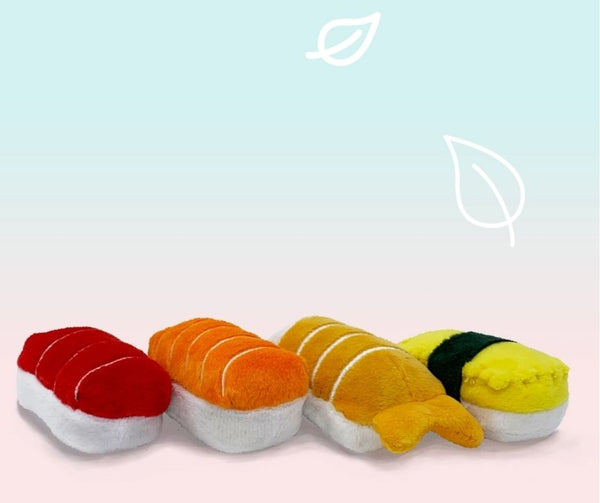 Catnip Nigiri Sushi 4pc Set Cat Toy